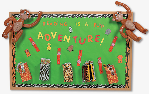 Jungle Theme Classroom Sayings http://tradingideas.orientaltrading.com/educators/k-6/bulletin-board-ideas/reading-adventure-bulletin-board